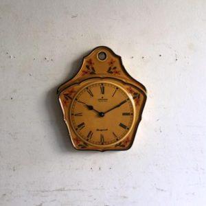 ヴィンテージ Junghans(ユンハンス)/壁掛け時計/クロック/陶器/ドイツ A12
