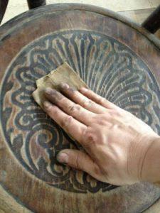 アンティークの修理の基本中の基本!アンティーク家具ベントウッドチェアの木部ぐらつき修理、塗装直し(再塗装)12