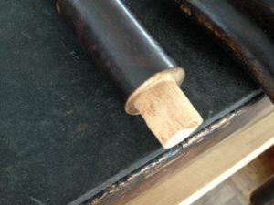 アンティークの修理の基本中の基本!アンティーク家具ベントウッドチェアの修理。木部ぐらつき修理、塗装直し(再塗装)3