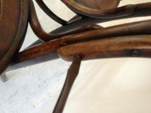 アンティークの修理の基本中の基本!アンティーク家具ベントウッドチェアの木部ぐらつき修理、塗装直し(再塗装)7