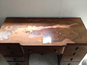 イギリスアンティーク家具ドレッシングテーブル(鏡台)の修理。天板付き板張り直し その1 アンティーク家具の修理、修復、カスタムの実例ご紹介!!1