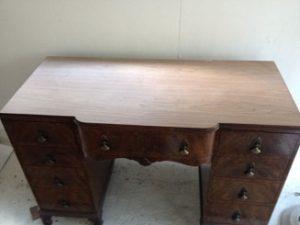 イギリスアンティーク家具ドレッシングテーブル(鏡台)の修理。天板付き板張り直し その1 アンティーク家具の修理、修復、カスタムの実例ご紹介!!5