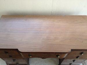 イギリスアンティーク家具ドレッシングテーブル(鏡台)の修理。天板付き板張り直し その1 アンティーク家具の修理、修復、カスタムの実例ご紹介!!6
