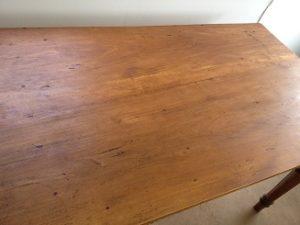アンティークテーブル天板塗装直し、再塗装4