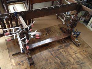 イギリスアンティークリフェクトリーテーブル修理2