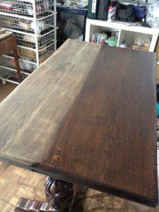 イギリスアンティークリフェクトリーテーブル修理4