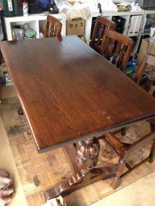 イギリスアンティークリフェクトリーテーブル修理5