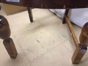 イギリスアンティーク家具オークチェア修理2