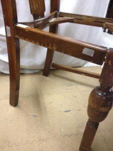 イギリスアンティーク家具オークチェア修理3