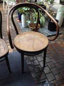 籐の椅子の座面張替1