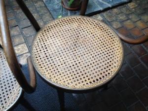 籐の椅子の座面張替2