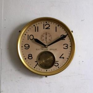 アンティーク BRILLIEの時計/ウォールクロック/フランス D7