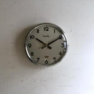 アンティーク Vedetteの壁掛け時計/ウォールクロック/フランス D12