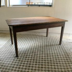 アンティーク オールドパインの大きなダイニングテーブル/イギリス H1