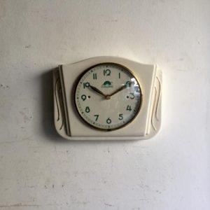 ヴィンテージ 壁掛け時計/FFR社/陶器/フランス J11