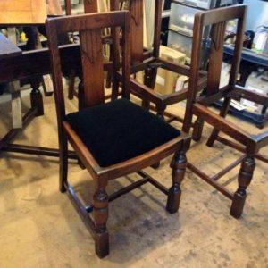 アンティークのオークチェア座面張替。アンティーク家具の修理の実例をご紹介!4
