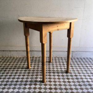 アンティーク オールドパインのラウンドテーブル/カフェ/イギリス J19