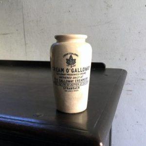 アンティーク CREAM O`GALLOWAYの陶器クリームポット/イギリス M16