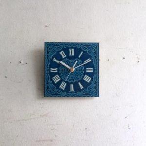 ヴィンテージ ブルーの壁掛け時計/アルミニウム/クロック/ドイツ A14