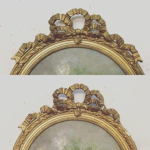 アンティーク額縁の修理(ゴールドフレーム修復)-アンティークの修理実例をご紹介-
